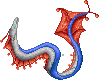 Red-Finned Sea Serpent Concept Sprite by ShattenWolf