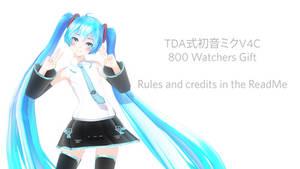 [800 watchers gift] Tda formula Hatsune Miku V4C by manashiku