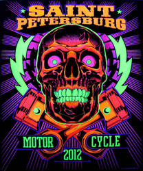 MotoSkull by MisterChek:Blacklight by sirjubjub