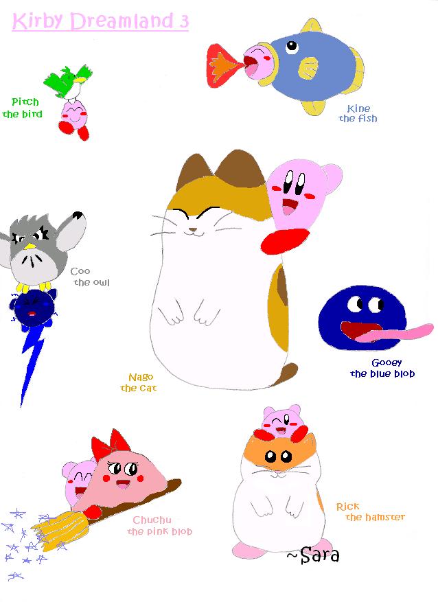 Kirby Dreamland 3: Characters by peachyprincesspeach on ...