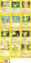 Poke Cards: Pikachu Collection by peachyprincesspeach