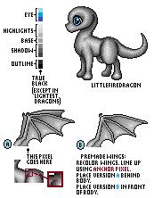 Pixel Dragon Base by LittleFireDragon