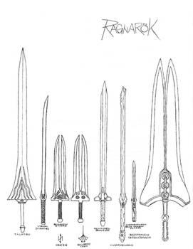 Blade Weapons of Ragnarok