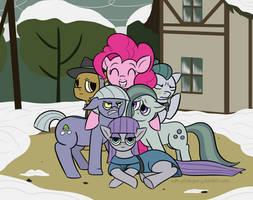 Pie Family Photo (Ask-Pink-Pony #40.6) by UnderwoodART