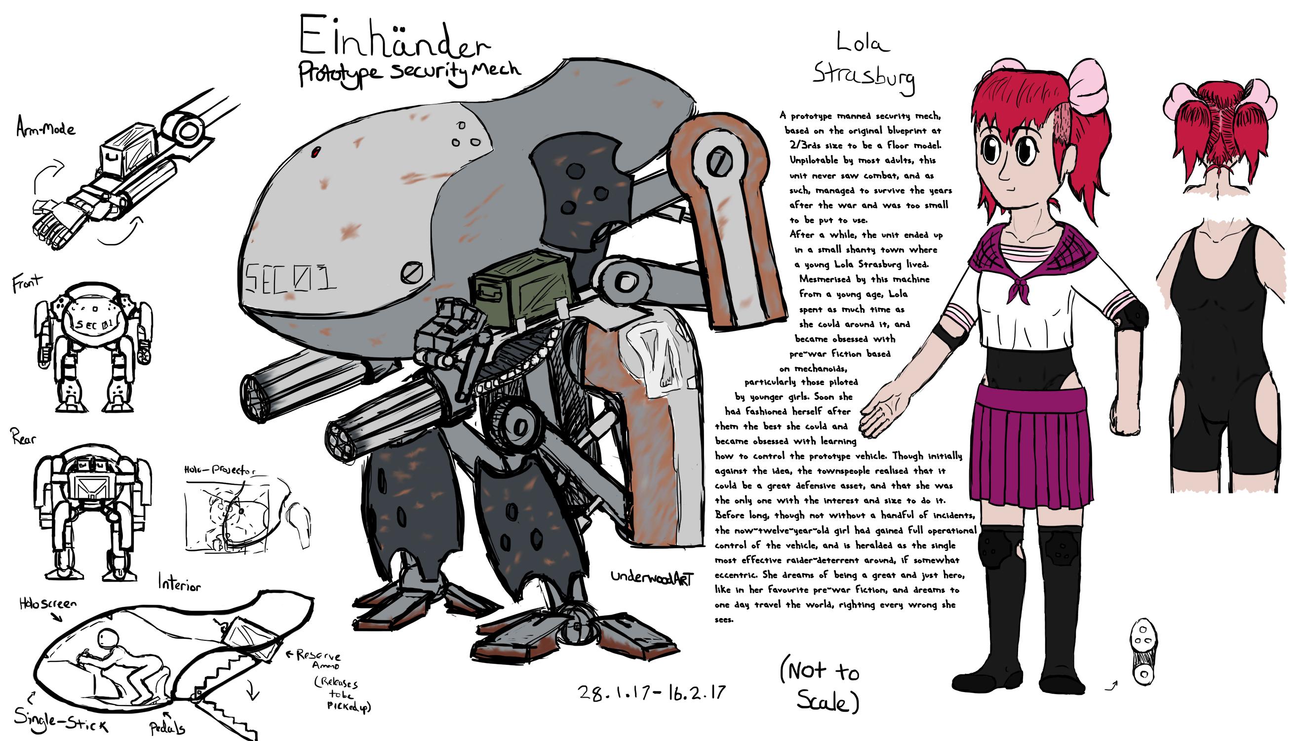 Lola and Einhander Concept by UnderwoodART