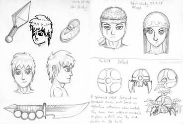 Dirge Profile Sketches (23-03-18) by UnderwoodART