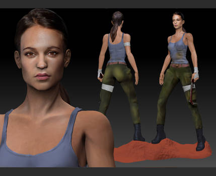 Tomb Raider 2018 movie Alicia Vikander. Lara Croft