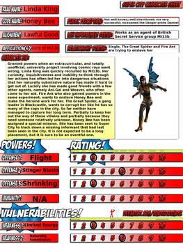 Honey Bee Super City Character Sheet