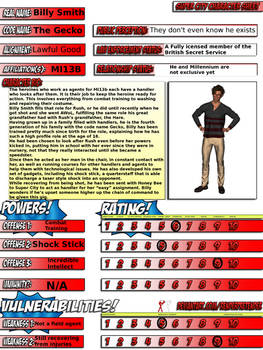 Billy Smith Super City Character Sheet