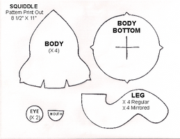 Squiddle sewing pattern by lishlitz