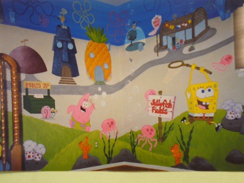 spongebob two wall mural by lishlitz on deviantart popular spongebob murals buy cheap spongebob murals lots
