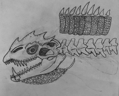 Ryatroxos skull and verts sub-dermal armor.