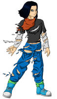 Android 17 - Stripped by dbz