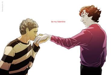 Sherlock BBC - Be my Valentine by maXKennedy