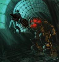 Bioshock - Big Daddy by maXKennedy