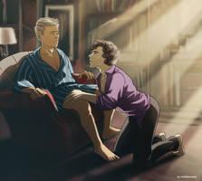 Sherlock BBC - Knees by maXKennedy