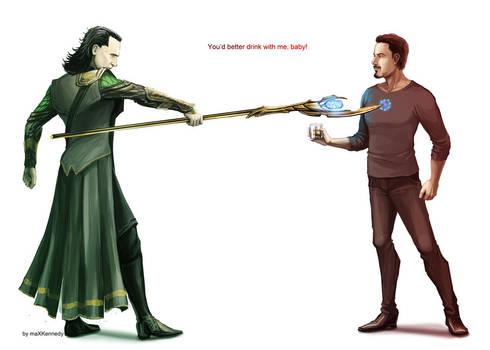The Avengers - Loki x Tony Stark