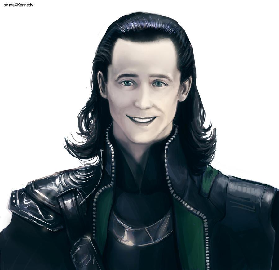 Loki smiles by maXKennedy on DeviantArt