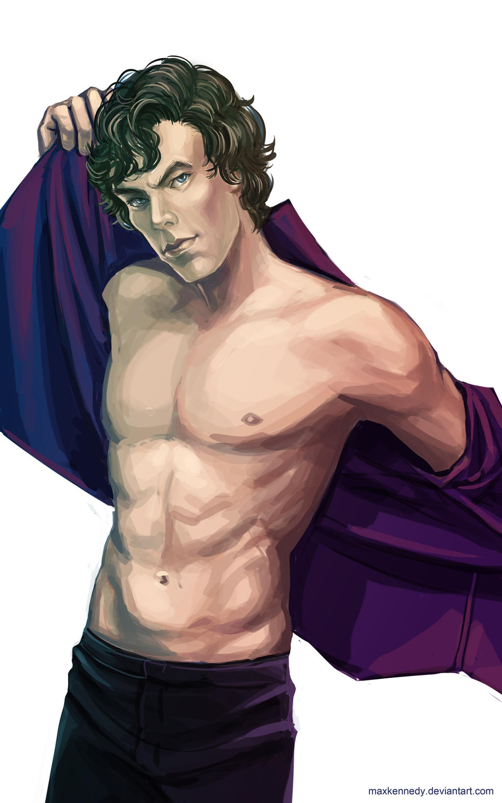 Sherlock BBC - Purple shirt of sex by maXKennedy