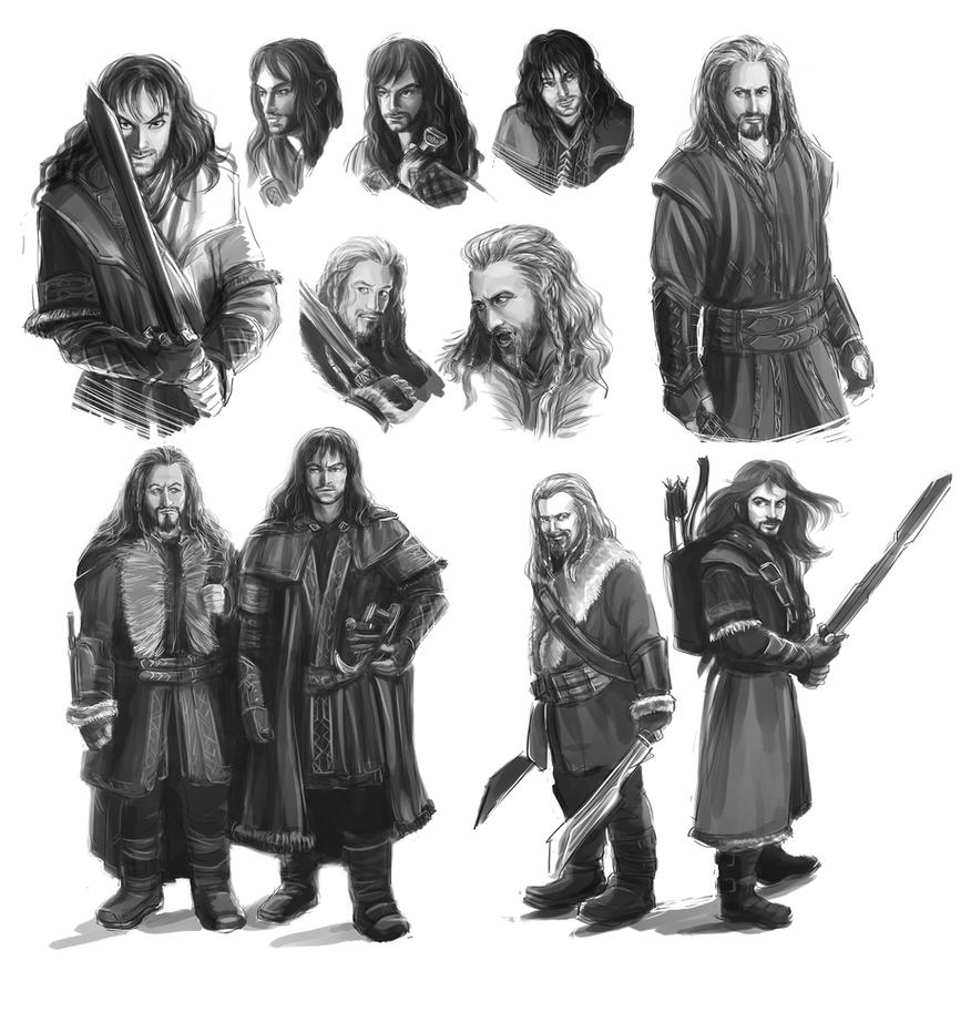 The Hobbit: An Unexpected Journey - Fili and Kili by maXKennedy