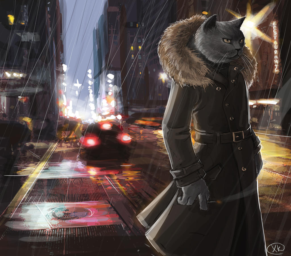 Detective Cat by maXKennedy