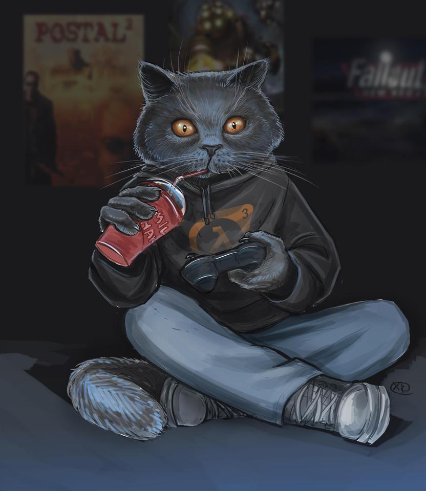 Gamer Cat by maXKennedy