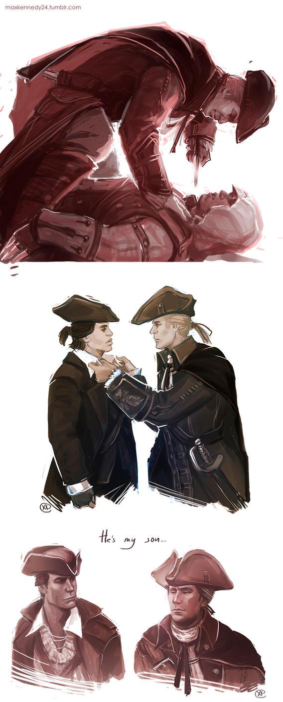 Assassin's Creed 3 - Connor x Haytham by maXKennedy