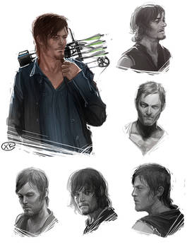The walking dead - Daryl Dixon sketches