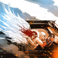 Mad Max Fury Road Nux angel guardian