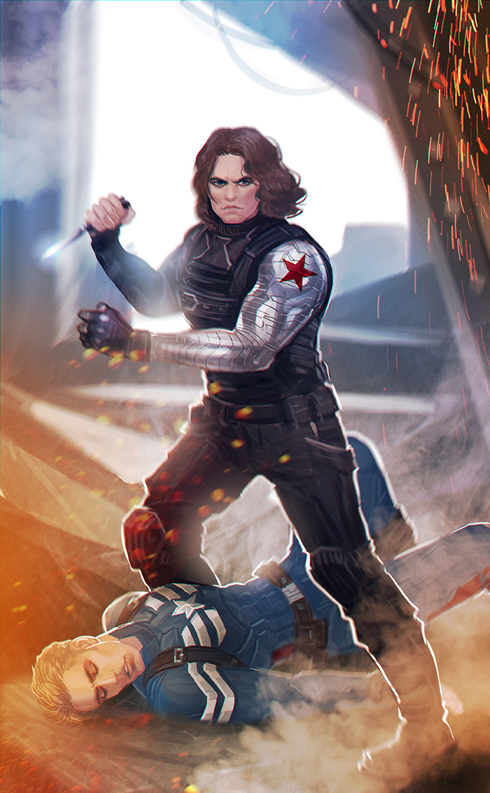 captain america winter soldier commission by maxkennedy. Black Bedroom Furniture Sets. Home Design Ideas