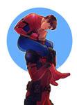 Spiderman x Deadpool - Kiss