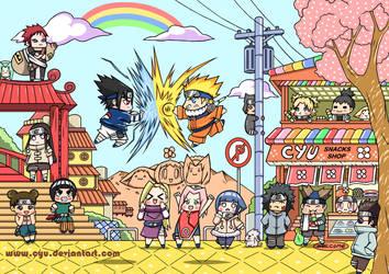 NaruSasu Fighting Show by cyu
