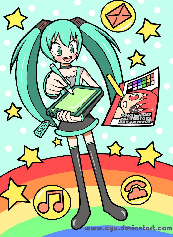 Hatsune Miku's Drawing Pad by cyu