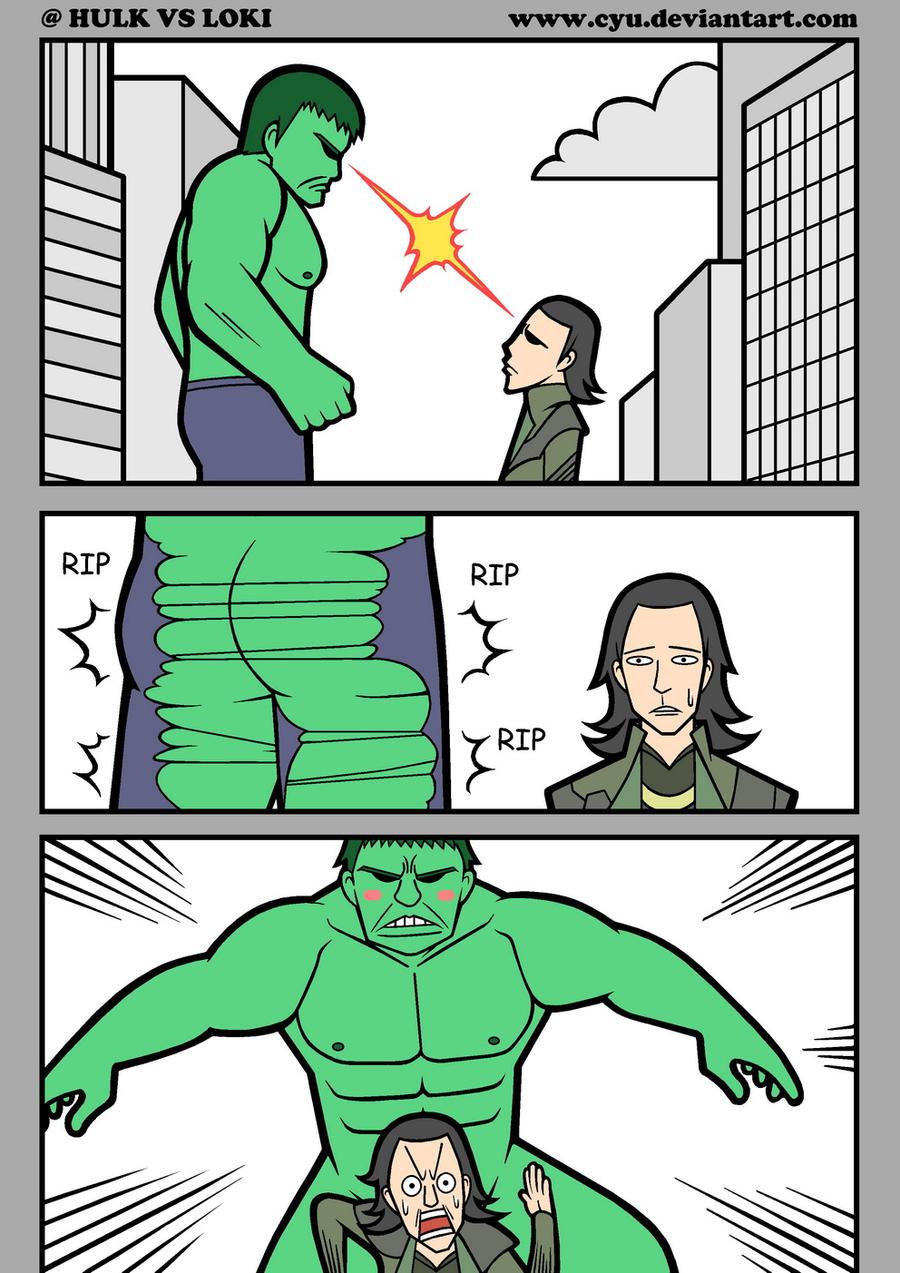 Hulk VS Loki by cyu