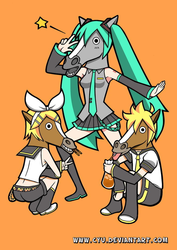 Vocaloid - Horse Miku And Friends by cyu