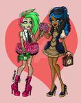 Monster High: Date Night Venus and Robecca