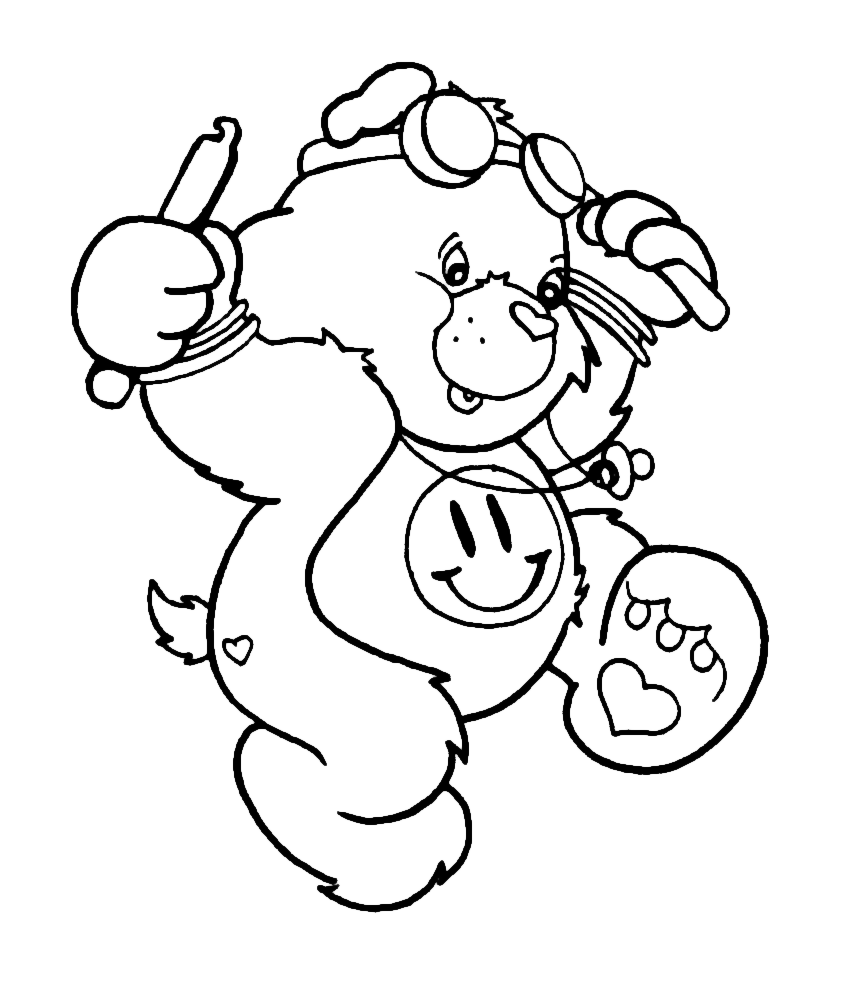 raver bear coloring page by crazy fae on deviantart