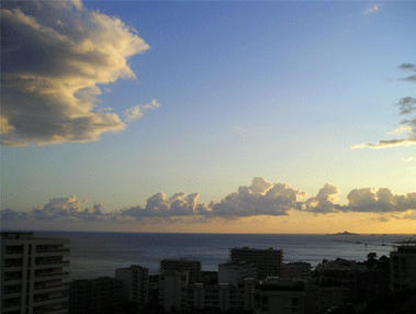 sunset from my balcony by Silana2a