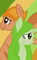 Ponified Leafy and Fiery by CCartfulgrl