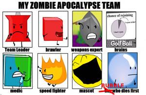 BFDI's Zombie Apocalypse Team by CCartfulgrl