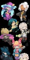 Poke-Ren: Chibi set by Mokkun-Way
