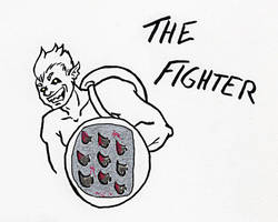 Inktober Day 4 - The Fighter