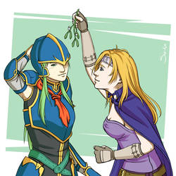 Under the Mistletoe (Nephenee x Heather)