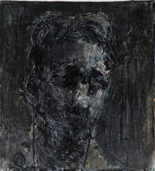 Autoportret, Cerven 15, Akryl Na Sololitu by dalimilelingvlach