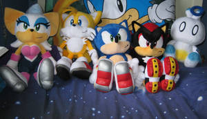 SA2 Plushies - Complete Set by GhostieShadow