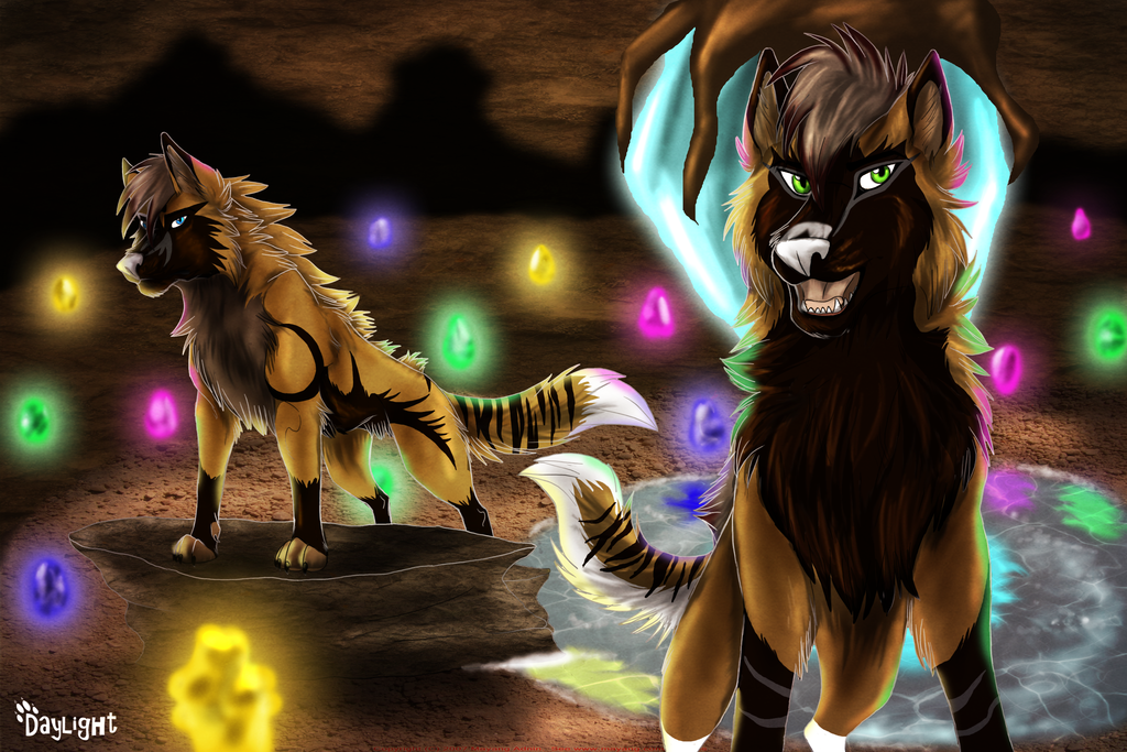 Discovering Crystal Caves (Commission) by MoscoMoon