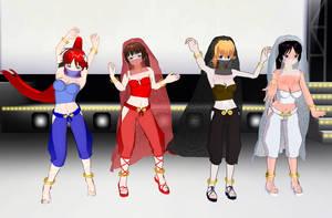 Tengen Toppa Gurren Lagann girls Belly Dancers by quamp