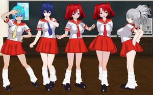 Yumerio Alouette girls schoolgirls by quamp