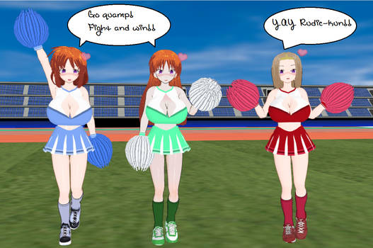 Cosplay Kyonyuu Mahjong Cheerleaders