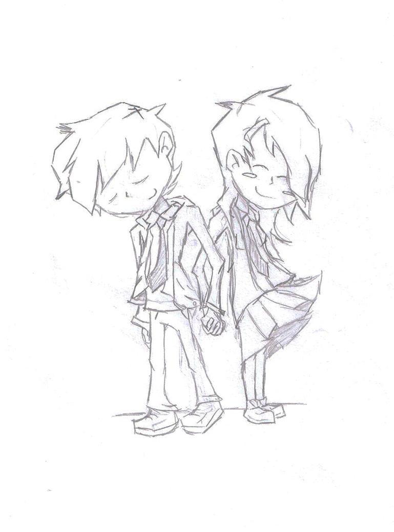 Anime couple by dark heart1238 on deviantart - Dark anime couples ...